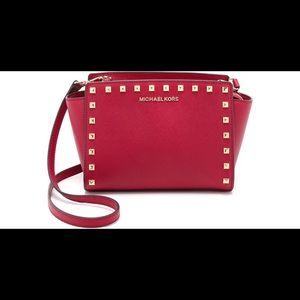 Michael Kors Selma mini stud crossbody bag clutch